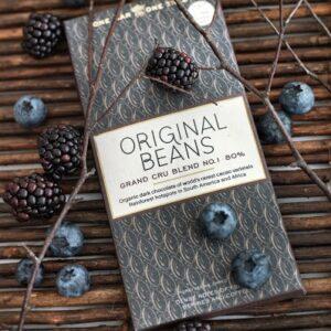 瑞士Original Beans 80%有機頂級黑巧克力片 70g